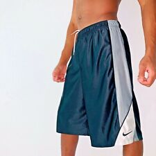 Rare Nike Basketball Dazzle Shorts Silky Sexy Smooth Black Silver Yxl Mens Small