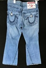 True Religion Rainbow Joey jeans excellent condition 32 X 33. Bell bottom style.