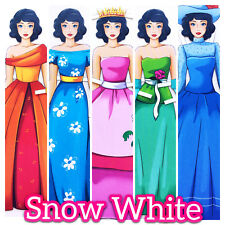 SNOW WHITE. 2 Paper Dolls. Queen Princess. Fairy Tale Fine Motor Skills Fantasy