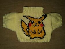 BN HAND KNITTED  JUMPER WITH PIKACHU TO FIT BUILD A BEAR