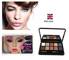 MAGICAL WINKING EYE 10 Eye Shadow Palette COMPACT SET + MIRROR Valentine Gift UK