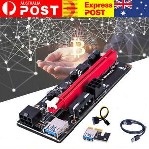 4pc PCI-E PCI Express PCIE 1x To 16x Adapter GPU Riser Card USB 3.0 Extension AU