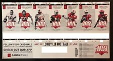 2018 Louisville Cardinals Football Collectible Ticket Stub - Any Home Game