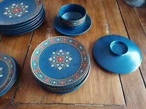 Vintage 60's Winterling Schwarzenbach Bavarian West German Ceramic Pottery Blue