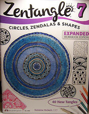 Zentangle 7 Circles, Zendalas & Shapes Work Book 33pg  Tips Techniques Projects