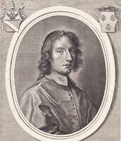 Portrait XVIIIe Francesco Barberini (1597-1679) Cardinal  Van Audenaerd
