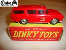 DINKY 257 NASH RAMBLER CANADIAN FIRE CHEIF'S CAR - VERY GOOD in original BOX