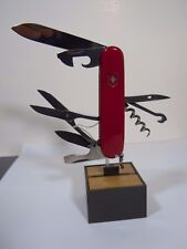 "Victorinox Switzerland ""Climber"" Swiss Army Pocket Knife Red  NOS"