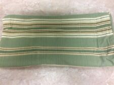 """CHARTER CLUB SHAM GREEN BEIGE STRIPE EURO 26"""" SQUARE PIPING COUNTRY 100% COTTON"""