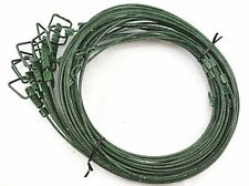 "GREEN SNARES 1/8 84"" SURE LOCK SWIVELED END coyote bobcat beaver- 1 dozen"