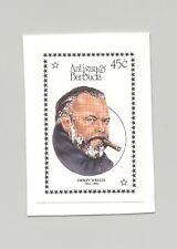 Antigua #1042 Orson Welles, Cinema 1v Imperf Proof on Card