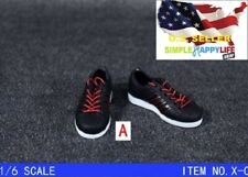 """1/6 black AD sneakers shoes for 12"""" male figure hot toys Phicen ganghood ❶USA❶"""
