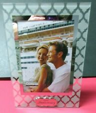 5 x 7 Glass Our  Anniversary easel back picture frame