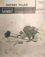 Montgomery Ward Garden Mark Lawn Tractor Tiller Implement Owner & Parts Manual