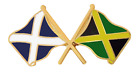 Jamaica Flag & Scotland Flag Friendship Courtesy Pin Badge