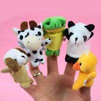 10Pcs Animal Finger Puppet Doll Children Baby Kids Plush Educational Story Toys