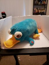 """Disney Store large 19"""" Phineas & Ferb plush talking Perry Platypus"""