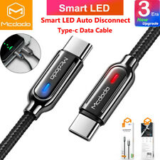 Smart Auto Disconnect USB C Cable Type C Fast Charger Samsung Note 20 S20 S10 S9