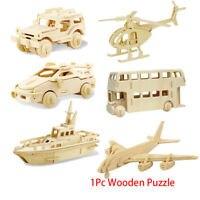 modellbau - spielzeug diy - 3d - flugzeug holz - auto puzzle - fahrzeug