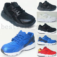 KIDS RUNNING TRAINERS CHILDREN SPORTS CAUSAL PUMPS BOYS GIRLS LACE UP SHOES SIZE