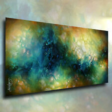 """Abstract Art Modern Painting """"phase 3"""" Mounted Giclee Canvas Print  Mix Lang"""