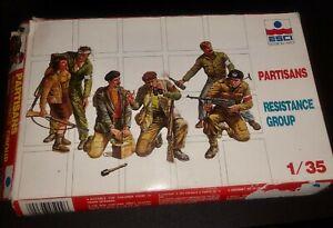 ESCI PARTISANS RESISTANCE GROUP 1/35 SCALE MODEL KIT!