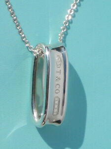 Tiffany & Co Sterling Silver Chain Necklace Solid 1837 Loop Charm Pendant