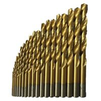 50 Pcs Titanium Coated High Speed Steel Drill Bit Set Tool 1/1.5/2/2.5/3mm I4F3