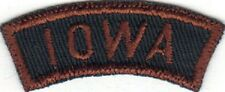 EXPLORER SCOUT IOWA GBS GREEN AND  BROWN STATE STRIP WHITE BACK STITCH
