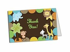 50 Jungle Thank You Cards  Baby Shower  Birthday Party  Any Occasion  A6 Size