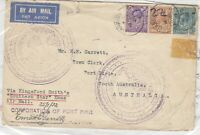 GB 1932 Airmail Cover To Australia Via Kingsford Smith Southern Star Xmas J8257
