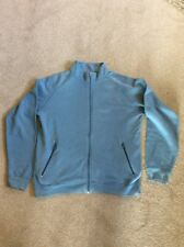 MENS LIGHTISH PETROL BLUE COLOUR JERZEES ZIP UP POCKETED SWEATSHIRT SIZE SMALL