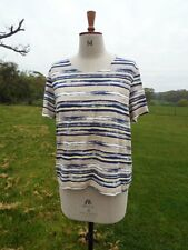 Pretty EASTEX Patterned Multi Shade Stretch Top Lined Plus Size 18 BNWOT RRP £59