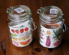 "2x New Le Parfait 1000ml Glass ""Bocaux""/Bellied Airtight Storage/Preserving Jars"