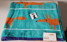 Scion Mr Fox Towel Bath Sheet Towel 100% Cotton (Deep Aqua) BNWT