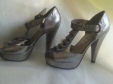Quinceanera Shoes Steve Madden Silver Metallic  Heels  6.5 M