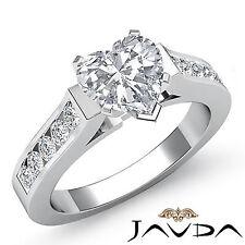 Heart Diamond Channel Set Engagement Multi Shape Ring GIA I VS2 Platinum 1.5 ct