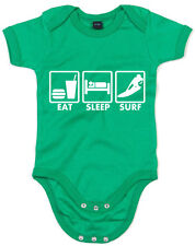 Eat Sleep Surf Enfant Imprimé Baby Grow Soft Baby Shower Cadeau Casual Dormir Co...