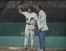 Stan Musial & Pete Rose Autographed Photo - Dual Signed - Obtained in Person