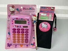 Hello Kitty Glitter Calculator Sunglasses Telephone Case Pencil Rare Japan