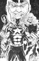 Avengers Endgame Original Comic Art by Jay Taylor