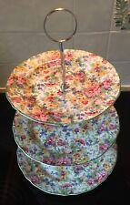 Vintage Chintz Midwinter China Cake Trio - 'springtime'.