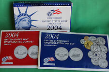 2004 Proof and Uncirculated Annual US Mint Coin Sets PDS 33 Coins