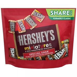 Hershey's Miniatures Special Dark Assortment Chocolate Candy