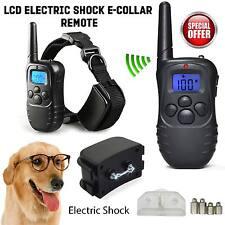 Electric Shock Vibrate Anti-Bark Collar Pet Dog Remote Training Batteries