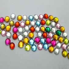 Wholesale beautiful 8 mm Flat Back Rhinestone Acrylic beads DIY U Pick color