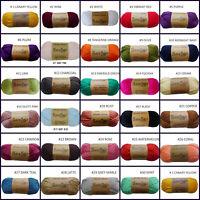 Knitting Yarn 5x100g 8ply 100% Acrylic Super Soft Yarn Solid Colours