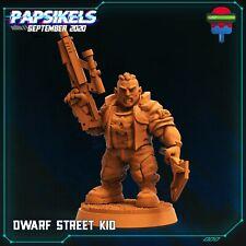 "Cyberpunk ""Dwarf Street Kid"" Papsikels   28mm-35mm   DnD   RPG Tabletop Boneshop"