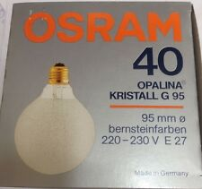 OSRAM OPALINA CRISTAL G 95 GLOBE Ámbar 220-230V E27 40W ø 95mm