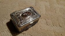 Antique Silver plated  rose rectangular shape Jewelry box
